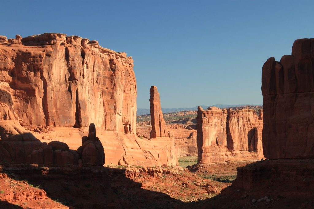 Arches National Park is the world's largest collection of natural rock arches. There are about 80 of them.