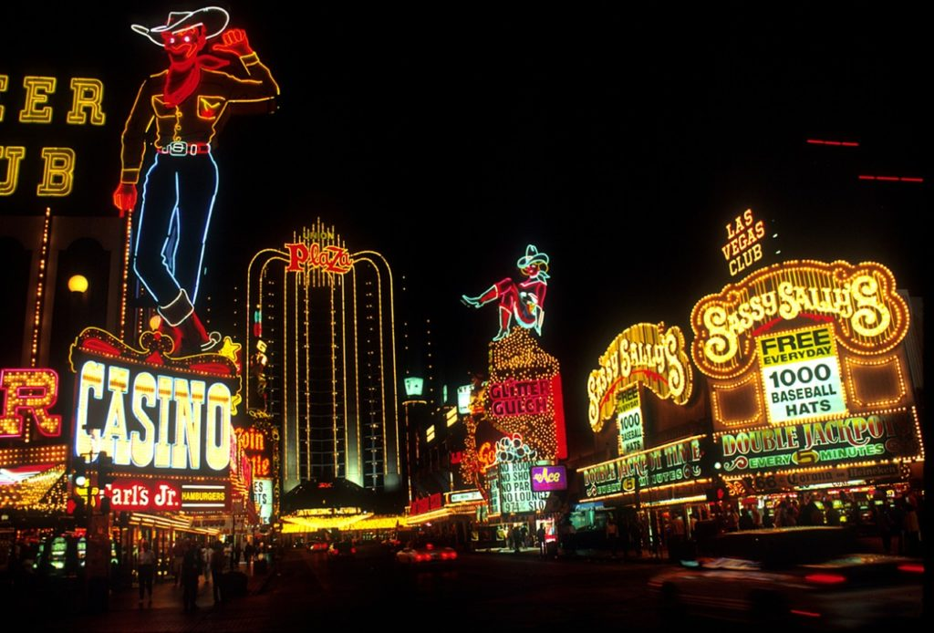 The famous 6.8km strip of kitsch and bawdy hotels that have become the symbol of Vegas.
