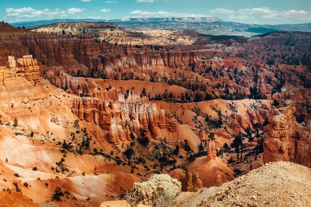 Bryce Canyon National Park is a fantasyland of hoodoos, bizarre rock formations, and sandstone pillars.