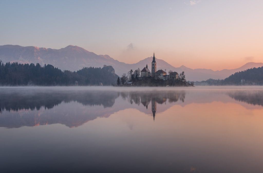 Best Christmas Destinations: Lake Bled, Slovenia in winter