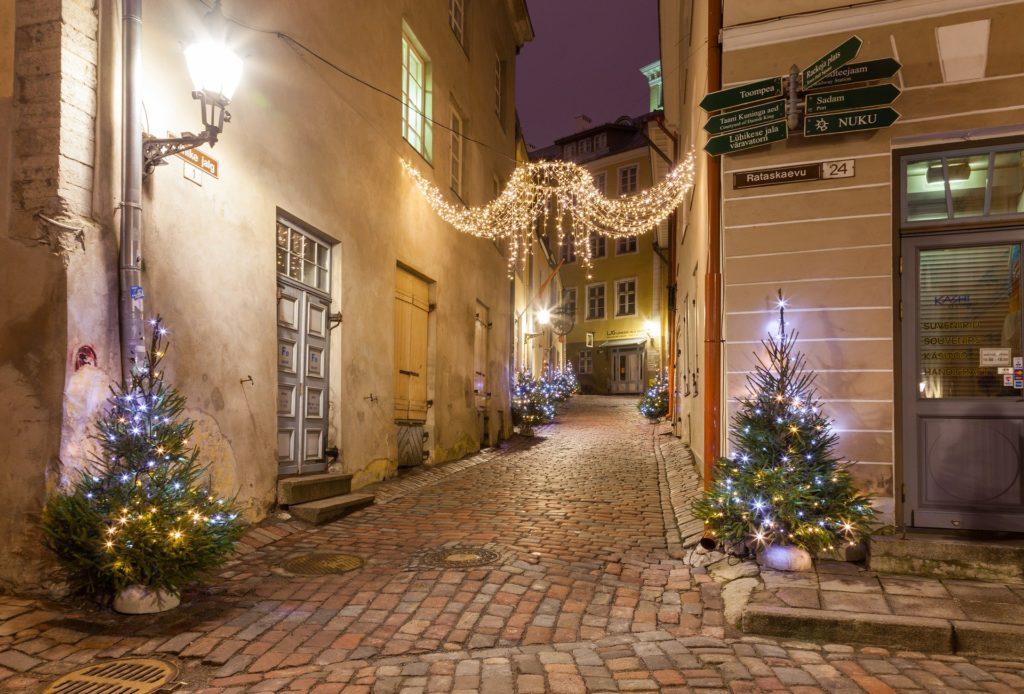 Tallinn, Estonia at Christmas time